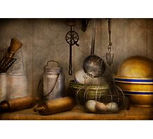 Chef - Ingredients - Breakfast and grandpa's Photographic Print