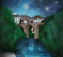 Knaresborough at Night Painting by Richard Yeomans