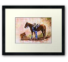 Saddle Up Framed Print