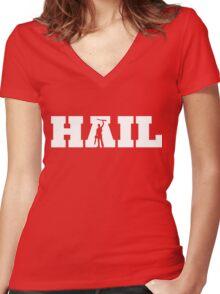 HAIL - Evil Dead Women's Fitted V-Neck T-Shirt