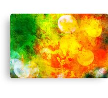 Colorful and smeared Canvas Print