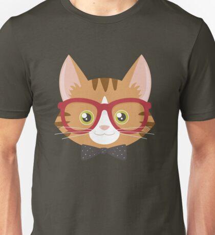 Orange Tabby Hipster Cat T-Shirt