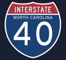 Interstate Sign 40 North Carolina, USA One Piece - Short Sleeve