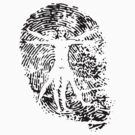 Vitruvian Man Fingerprint (Light) by spaulfam