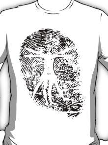 Vitruvian Man Fingerprint (Light) T-Shirt