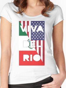 WWE Viva Del Rio MexAmerica Women's Fitted Scoop T-Shirt