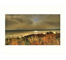 Salt Lake Sunset Art Print