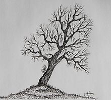 Hilltop Tree by Jack G Brauer
