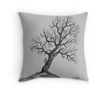 Hilltop Tree Throw Pillow