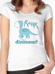 RAWR - I'm a Dinosaur! Women's Fitted Scoop T-Shirt