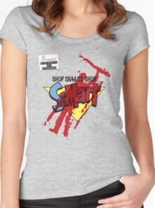 Ash's S-Mart blood-soaked t-shirt Women's Fitted Scoop T-Shirt