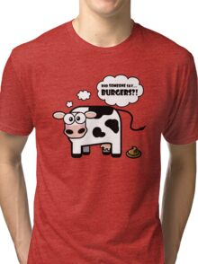 Burgers?! (Oops... I Pooped version 2) Tri-blend T-Shirt