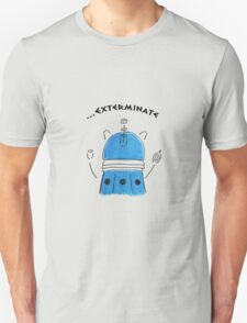 Blue Dalek - Hand drawn, Watercolor T-Shirt
