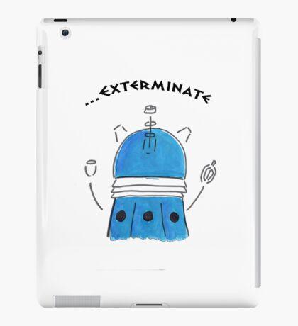 Blue Dalek - Hand drawn, Watercolor iPad Case/Skin