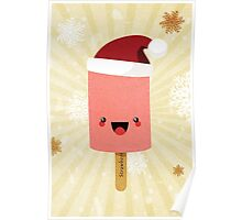 Festive Strawberry Ice Lolly Poster