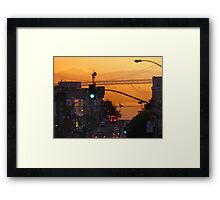 Broadway Sunrise Framed Print