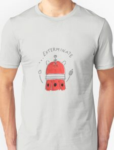 Red Dalek - Hand drawn, Watercolor T-Shirt