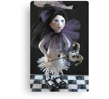 Girl With Her Puppet Canvas Print