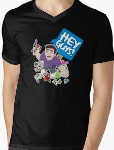 """Hey Guys!"" Cartoon Mens V-Neck T-Shirt"
