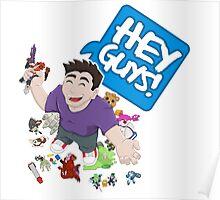 """Hey Guys!"" Cartoon Poster"