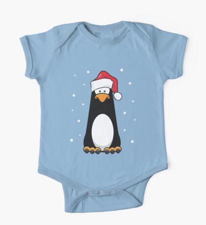 Christmas Pensive Penguin One Piece - Short Sleeve