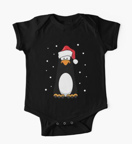 Christmas Pensive Penguin One Piece - Short Sleeve
