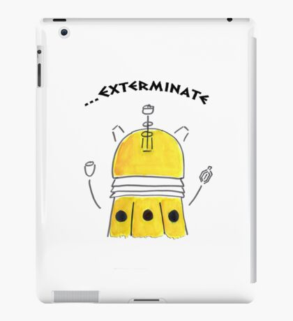 Yellow Dalek - Hand drawn, Watercolor iPad Case/Skin