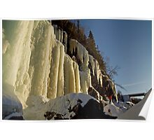 Ice Climbing in Norway Poster