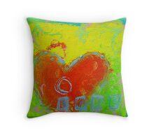 love heart 5 Throw Pillow