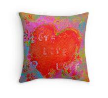 love heart 2 Throw Pillow