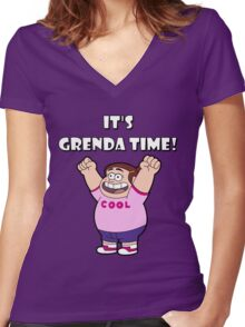 """IT""""S GRENDA TIME! Women's Fitted V-Neck T-Shirt"""