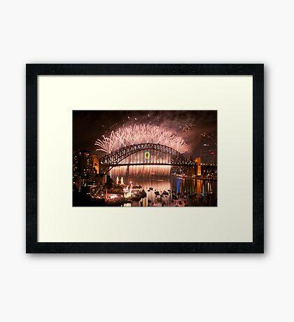 Simply The Best ! - Sydney NYE Fireworks  #10 Framed Print