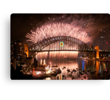 Simply The Best ! - Sydney NYE Fireworks  #10 Canvas Print