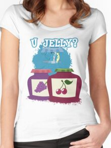 U Jelly Brony? Women's Fitted Scoop T-Shirt