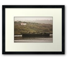 Grounded Boat on the Wear Framed Print