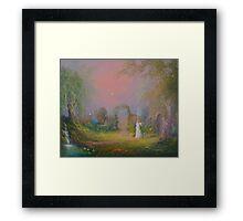 Eowyn In The Garden Of Healing Framed Print