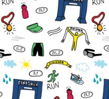 Running Doodles Sticker