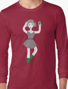 Socialmedia Lady - selfie Long Sleeve T-Shirt