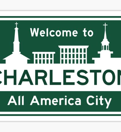 Welcome to Charleston, South Carolina, Road Sign, USA Sticker