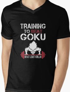 Training To Beat Goku Mens V-Neck T-Shirt