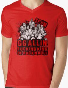 GG Allin king of rock n roll Mens V-Neck T-Shirt
