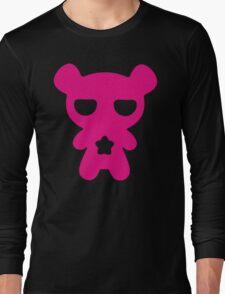 Lazy Bear Pink Long Sleeve T-Shirt