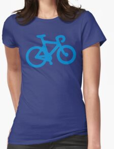 Blue Simple Bike Womens Fitted T-Shirt