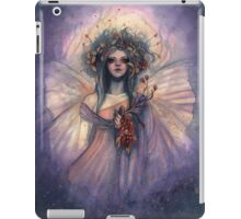 Shimmering Dream - Fairy with Flower Bouquet iPad Case/Skin