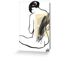 nude with scribble Greeting Card
