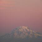 Sunset over Rainier by MischaC