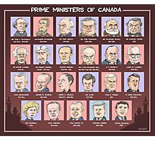Canada's Prime Ministers (updated for 2015-2019) Photographic Print