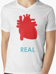 Reality - turquoise Mens V-Neck T-Shirt