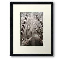 Road to Winter Framed Print