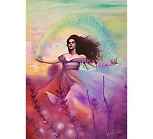 Temperance - Woman in Flower Field Photographic Print